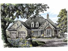 New American House Plan with 2477 Square Feet and 3 Bedrooms from Dream Home Source | House Plan Code DHSW55363 american hous, dream homes, hous plan, hous idea, dream hous, 2477 squar, squar feet, bedroom, house plans