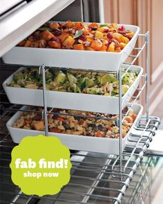 3-tiered oven rack. What a great idea. Find it at Better Homes and Gardens Magazine via Facebook.