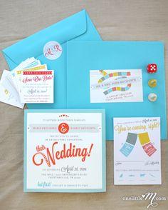 Board Game #Wedding Invites #design #games #print