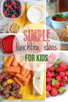 4 Simple Lunchbox Ideas for Kids