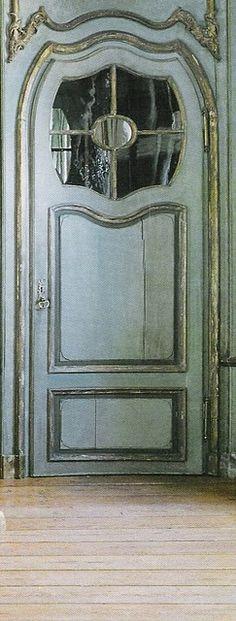 blue front door....