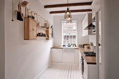 small kitchen designs, kitchen shelves, small kitchens, apartment kitchen, ropehung shelv, kitchen layouts, white kitchens