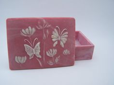 Vintage Pink Incolay Trinket Box by DellaRayVintage on Etsy, $18.00