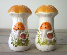 Merry Mushroom Salt and Pepper Shakers