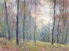 """Richard McKinley started """"Arkansan Woods"""" (pastel, 9×12) with a dry #pastel underpainting. Read more in Pastel Pointers >> ~ch"""