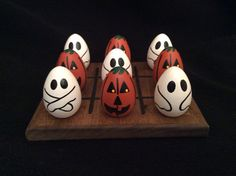 HALLOWEEN TicTacToe by WOODuPlayGames on Etsy, $15.95