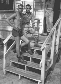 Burr Smith and Skip Muck at Fort Bragg 1943