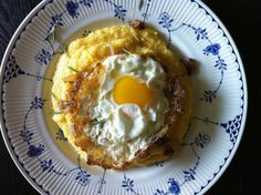 Grits with Old Bay Frizzled Shallots & a Fried Egg