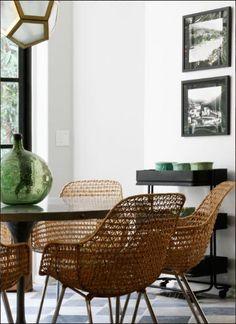 Love these chairs - Interior design by Nate Berkus
