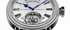 Speake Marin Magister Tourbillon Sobre una clásica caja Picadilly de titanio con esfera blanca de gran sencillez destaca el tourbillon 60 segundos.