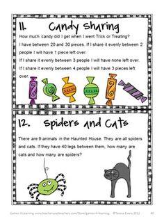 Tease their brains with these Halloween Math Brain Teasers! $