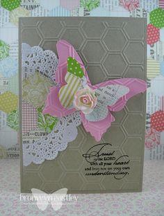 Doily Honeycomb Trust God ~ Stampin' Up! ~ addINKtive designs