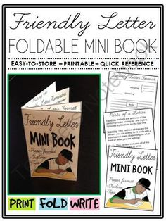 Friendly Letter Mini Book (foldable, printable, fun-filled resource!) from The Classroom Sparrow on TeachersNotebook.com -  (7 pages)  - This mini-book is a great addition to any English, business, or career exploration class and suitable for a variety of levels.