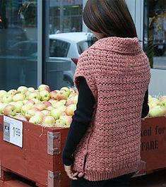 Ravelry: Cross Double Crochet Vest pattern by Flora Yang Sew, Doubl Crochet, Vest Pattern, Crochet Sweater, Knit, Crosses, Crochet Vests, Cross Doubl, Crochet Idea