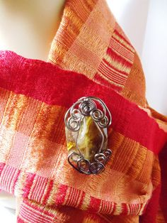 Wire Wrapped Scarf Pin Magnetic Brooch Gunmetal by simplysuzie2, $25.00