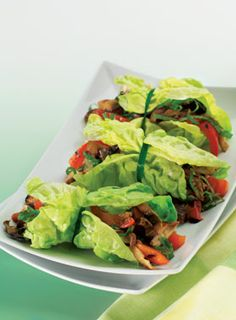 Grilled Mushroom Lettuce Wraps.