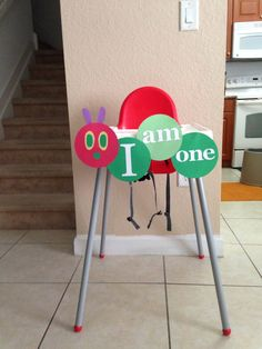 DIY Very hungry caterpillar high chair banner