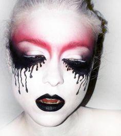 voodoo face, costum, red stuff, creepi beauti, halloween makeup, makeup ideas, special fx, brow, halloweenmakeup