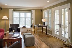 Cape Cod Addition family room - traditional - family room - kansas city - ROTHERS Design/Build