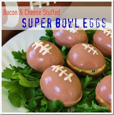 Bacon & Cheese Stuffed Super Bowl Eggs
