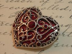 Vintage Monet Heart Brooch