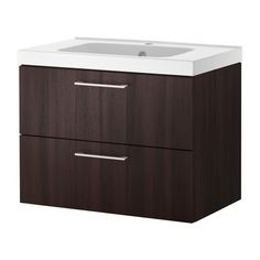 """211 Balck brown  23""""GODMORGON/ODENSVIK Sink cabinet with 2 drawers IKEA 10-year Limited Warranty. Read about the terms in the Limited Warranty brochure."""