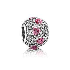 heart charm, pandora beads, pandora charm