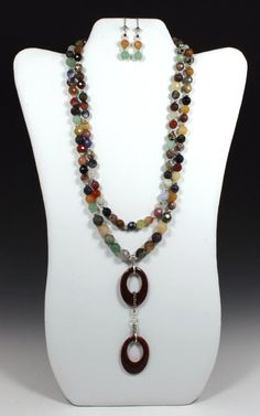 DoubleStrand Faceted Mixed Stone Necklace & by ClassyGemsByCarol, $142.00