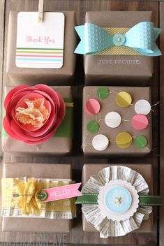 Great ideas for wrapping gifts.