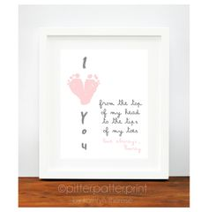 Mother's Day Gift for Grandma I Love You by PitterPatterPrint