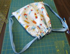 Child's Lined Drawstring Backpack -- sewing tutorial