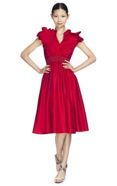 Shop Giambattista Valli Ruffle Cap Sleeve Cocktail Dress at Moda Operandi