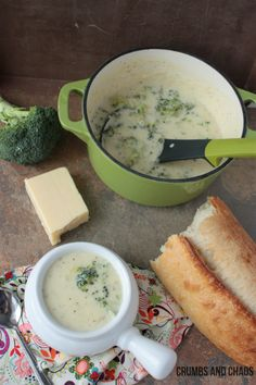 Broccoli Cheese Soup Recipe - Crumbs and Chaos!