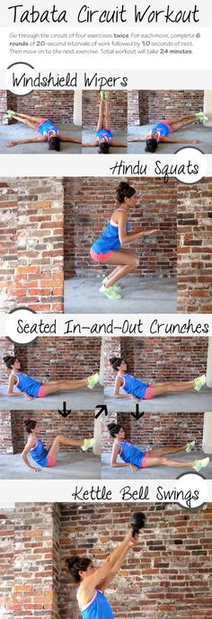 Tabata Circuit workout from Pumps and Iron. Leg and ab | http://workouteverydaylession.blogspot.com