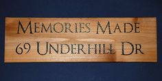 Address Sign Cottage Sign Engraved Wood by MemoriesMadeToronto, $30.00
