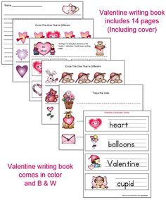 I have loaded up a Valentines upper and lowercase letter file that includes a Valentines writing book. File is in color and b & w. This file is located under the Valentine's link on the 1 - 2 - 3 Learn Curriculum web site. :)  1 - 2 - 3 Learn Curriculum is a members curriculum website developed by a child care provider of 29 years. For only $30.00 a year you can assess to everything on the web site with items being added. Thank you for viewing and pinning. Jean 1 - 2 - 3 Learn Curriculum