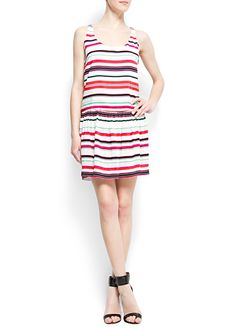 MANGO - CLOTHING - Loose-fit multicolor striped dress