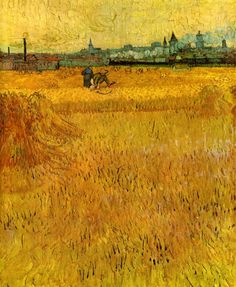 Vincent van Gogh:  Arles, View from the Wheat Fields (1888)