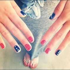 4th of july nail designs pictures | Health & Beauty » 4th of July Nails