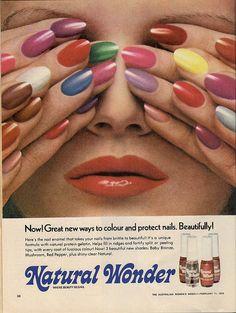 Vintage Ad: Natural Wonder Nail Polish