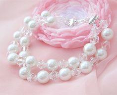 Pearl Crystal Bridal Bracelet