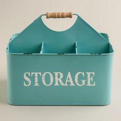 Aqua Donna Storage Caddy at Cost Plus World Market >> #WorldMarket Vintage