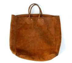 vintage leather tote