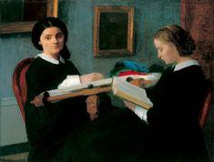Les brodeuses / Les deux soeurs 1859 de Henri FANTIN LATOUR (français 1836 - 1904) The Saint Louis Art Museum - USA