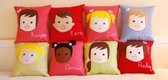 Olliegraphic - customize #pillows for your tot's room with their own picture! #nursery