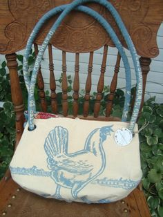 Oh look A CHICKEN  Vintage Eshelman Red Rose Laying by ginnymae, $65.00