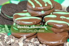 Double Chocolate Mint Oreo Cookies. These cookies are super easy to make and delicious!