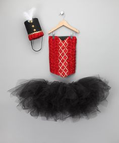 Take a look at this Red & Black Nutcracker Dancer Tutu Set - Girls by Enchanted Fairyware Couture on #zulily today!