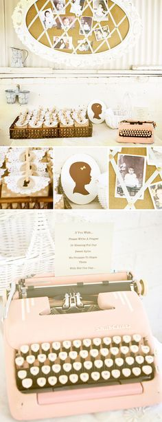 Baptism Reception with a Vintage Picnic Theme in Gold and White