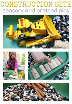 Construction Site Play - sensory and pretend play